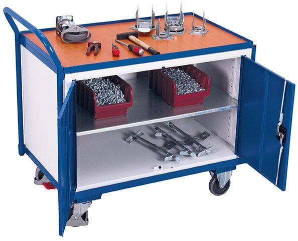 Werkstattwagen mit 1 Ladefläche und 1 Schrank