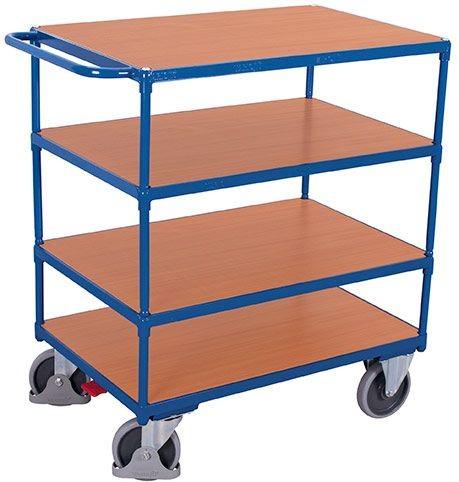 Schwerer Tischwagen, mit 4 Ladeflächen