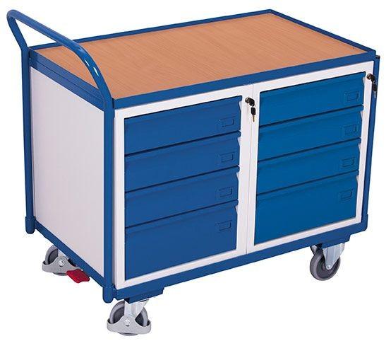 Werkstattwagen mit 1 Ladefläche und 8 Schubladen
