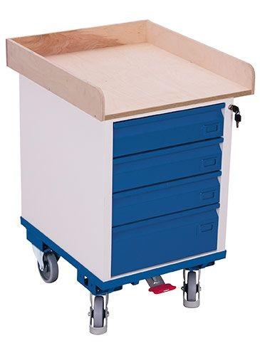Schubladenschrank mit 1 Ladefläche