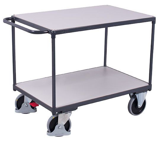 Schwerer ESD-Tischwagen mit 2 Ladeflächen