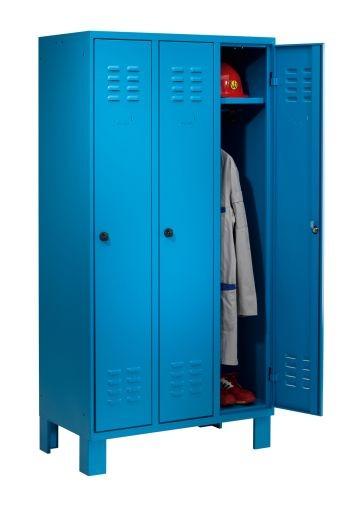 Garderobenschrank 3 Abteile auf Füßen