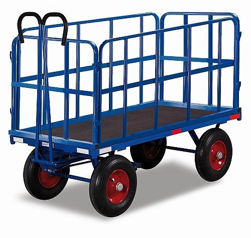 Handpritschenwagen mit 4 Rohrgitterwänden (L)