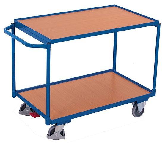 Leichter Tischwagen mit 2 Ladeflächen