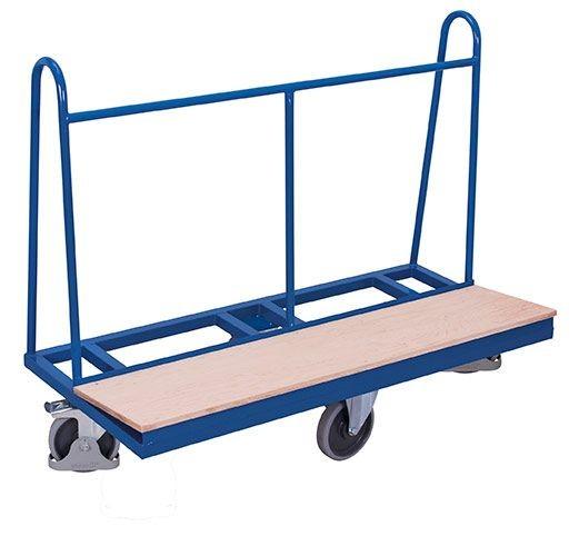 Plattenwagen mit rhombischer Rollenanordnung