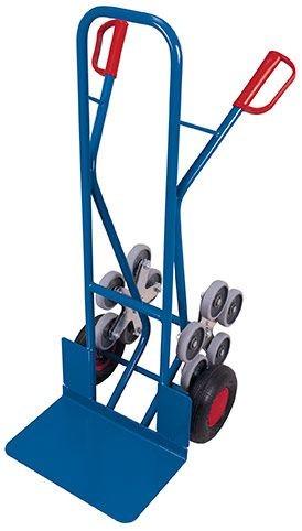 Treppenkarre mit 2 fünfarmigen Radsternen und breiter Schaufel