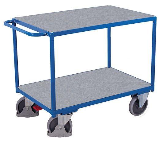 Schwerer Tischwagen, mit 2 Zinkblechladeflächen