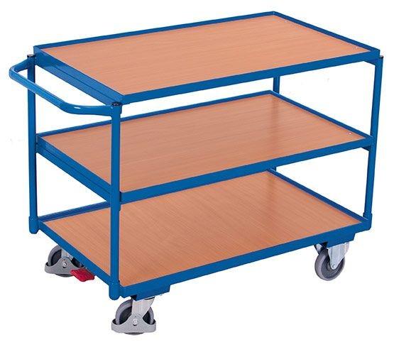 Leichter Tischwagen mit 3 Ladeflächen