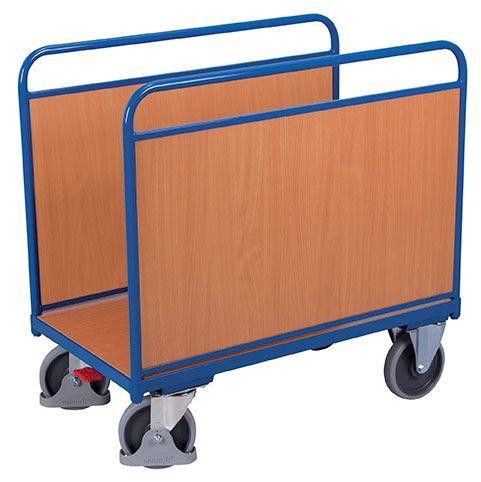 Seitenbügelwagen mit Holzwänden