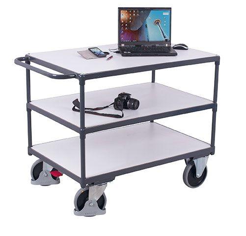 Schwerer ESD-Tischwagen mit 3 Ladeflächen
