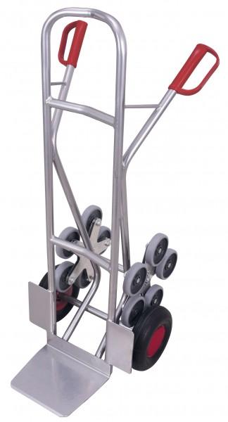 Aluminium - Treppenkarre mit 2 fünfarmigen Radsternen (L)