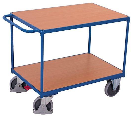 Schwerer Tischwagen, mit 2 Ladeflächen