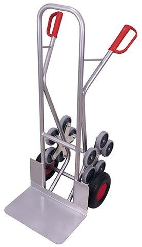 Aluminium - Treppenkarre mit 2 fünfarmigen Radsternen (L), breite Schaufel