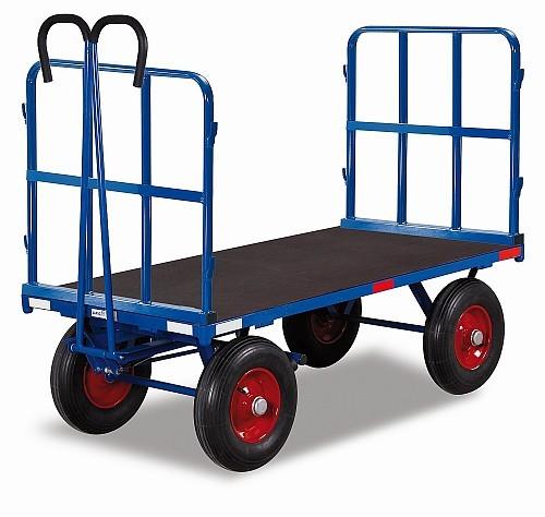 Handpritschenwagen mit 2 Rohrgitterwänden (L)
