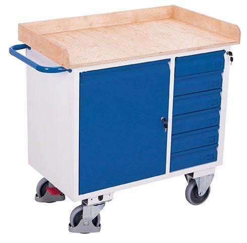 Werkstattwagen mit 1 Ladefläche 6 Schubladen und Rand