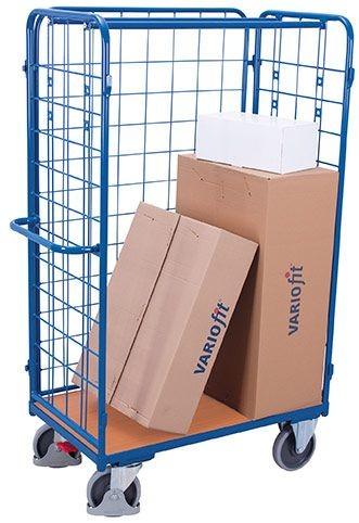 Paket-Dreiwandwagen, hoch