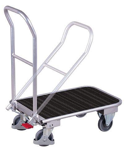 Aluminium Klappbügelwagen mit Riefengummimatte