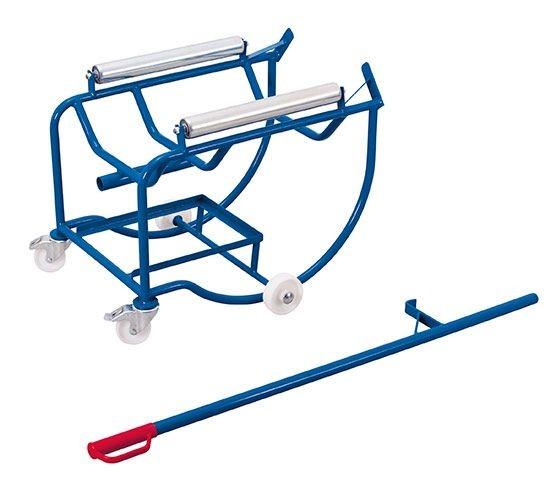 Fasskipper mit 2 Stahlrollen