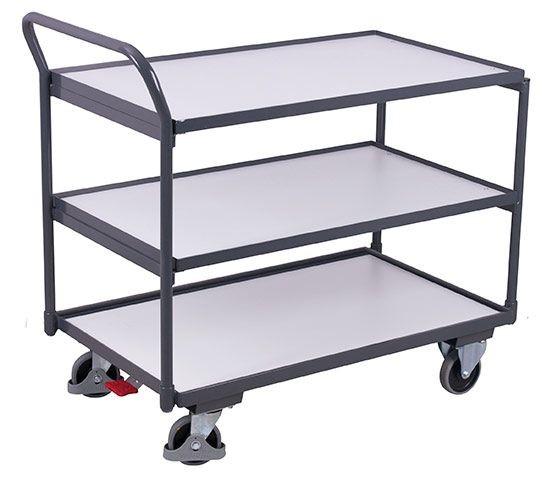 ESD-Tischwagen mit 3 Ladeflächen