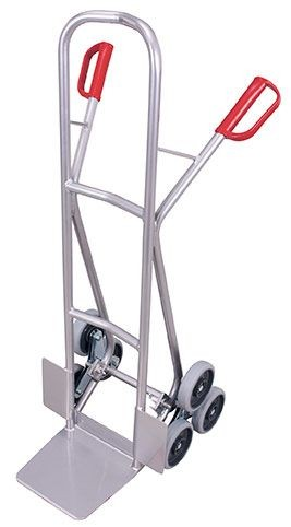 Aluminium - Treppenkarre mit 2 dreiarmigen Radsternen (VG)