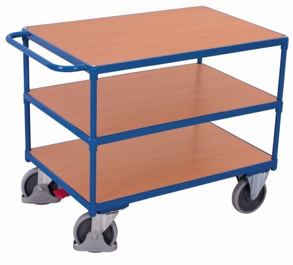 Schwerer Tischwagen, mit 3 Ladeflächen